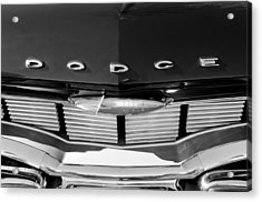 1960 Dodge Grille Emblem Acrylic Print by Jill Reger