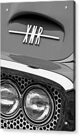 1960 Plymouth Xnr Ghia Roadster Grille Emblem Acrylic Print by Jill Reger