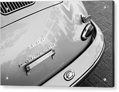 1960 Porsche 356 B 1600 Super Roadster Rear Emblem - Taillight Acrylic Print by Jill Reger