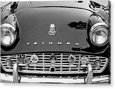 1960 Triumph Tr 3 Grille Emblems Acrylic Print by Jill Reger