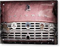 1960 Triumph Tr3 Grille Emblems Acrylic Print by Jill Reger
