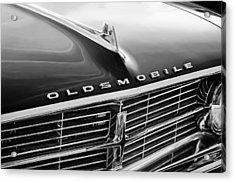 1962 Oldsmobile Starfire Hardtop Hood Ornament - Emblem Acrylic Print by Jill Reger
