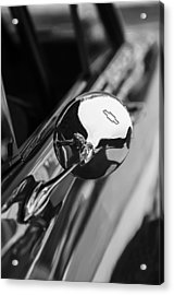 1963 Chevrolet Nova Rear View Mirror Emblem Acrylic Print