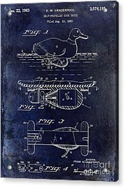 1963 Duck Decoy Patent Drawing Acrylic Print