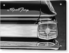 1963 Plymouth Sport Fury Taillight Emblem Acrylic Print by Jill Reger