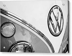 1964 Volkswagen Samba 21 Window Bus Vw Emblem Acrylic Print by Jill Reger