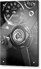 1965 Aston Martin Db5 Coupe Rhd Steering Wheel Acrylic Print by Jill Reger