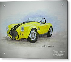 1965 Shelby Cobra Acrylic Print by Terri Maddin-Miller