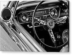 1965 Shelby Prototype Ford Mustang Steering Wheel Acrylic Print by Jill Reger