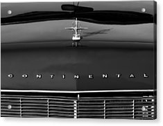 1967 Lincoln Continental Hood Ornament Grille Emblem Acrylic Print