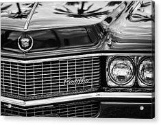 1969 Cadillac Eldorado Grille Acrylic Print by Jill Reger