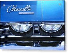 1969 Chevrolet Chevelle Emblem Acrylic Print by Jill Reger