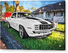 1969 Chevy Camaro Rs Painted  Acrylic Print