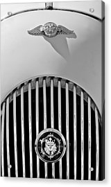 1969 Morgan Roadster Grille Emblems Acrylic Print by Jill Reger