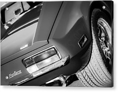1972 Detomaso Pantera Taillight Emblem Acrylic Print