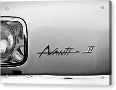 1978 Avanti II Headlight Emblem Acrylic Print by Jill Reger