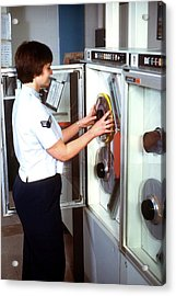 1980s Military Computing Acrylic Print