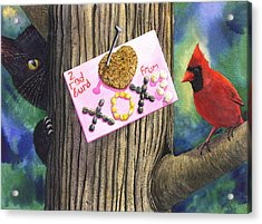 2 Red Burd Acrylic Print by Catherine G McElroy