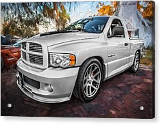 2004 Dodge Ram Srt 10 Viper Truck Painted Acrylic Print by Rich Franco