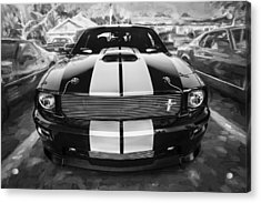 2007 Ford Mustang Shelby Gt Painted Bw   Acrylic Print