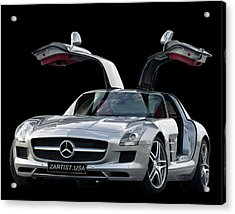 2010 Mercedes Benz Sls Gull-wing Acrylic Print by Jack Pumphrey