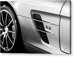 2012 Mercedes-benz Sls Gullwing Wheel Acrylic Print by Jill Reger
