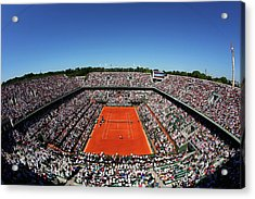 2015 French Open - Day Fourteen Acrylic Print by Clive Brunskill