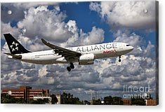 Airbus A-330 Avianca Airlines Acrylic Print by Rene Triay Photography