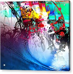48x41 The Scream 2012 Blue Ocean Wave - - Signed Art Abstract Paintings Modern Www.splashyartist.com Acrylic Print