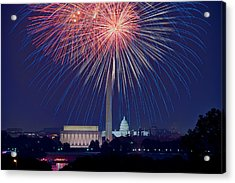 4th Of July Fireworks Acrylic Print