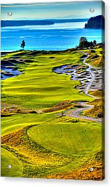 #5 At Chambers Bay Golf Course - Location Of The 2015 U.s. Open Tournament Acrylic Print by David Patterson