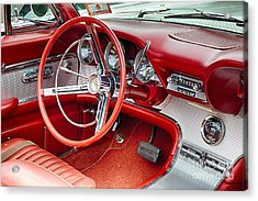 62 Thunderbird Interior Acrylic Print by Jerry Fornarotto
