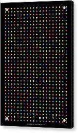 700 Digits Of Pi Acrylic Print by Martin Krzywinski