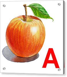 A Art Alphabet For Kids Room Acrylic Print by Irina Sztukowski