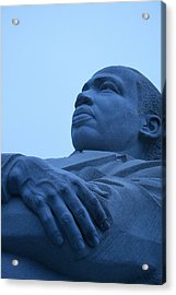 Acrylic Print featuring the photograph A Blue Martin Luther King - 1 by Cora Wandel