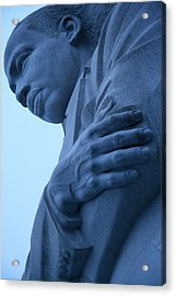 Acrylic Print featuring the photograph A Blue Martin Luther King - 2 by Cora Wandel