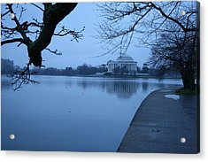 Acrylic Print featuring the photograph A Blue Morning For Jefferson by Cora Wandel
