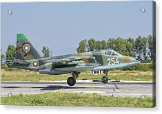 A Bulgarian Air Force Su-25 Jet Acrylic Print by Giovanni Colla
