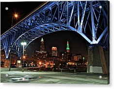 A Cleveland Night Acrylic Print by Frozen in Time Fine Art Photography
