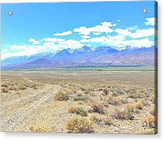 A Desert Drive Acrylic Print by Marilyn Diaz