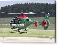 A Eurocopter Ec135 Used By German Acrylic Print by Timm Ziegenthaler