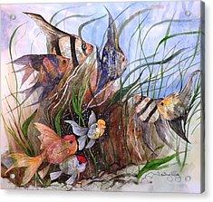 A Fishy Tale Acrylic Print