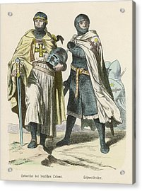 A Grand Master Of The Teutonic  Knights Acrylic Print by Mary Evans Picture Library