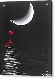 A Love Story No 13 Acrylic Print by Oddball Art Co by Lizzy Love