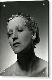 A Model Wearing Cartier Diamonds Acrylic Print by Horst P. Horst