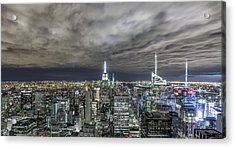 A Night In Nyc Acrylic Print by Anthony Fields