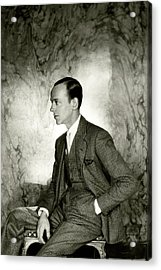 A Portrait Of Fred Astaire Sitting Acrylic Print by Cecil Beaton