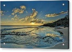 A Tidal Shelf On Kawakiu Nui Beach Acrylic Print