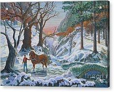 A Winter Sunset Acrylic Print