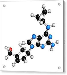 Abacavir Hiv Drug Molecule Acrylic Print by Molekuul
